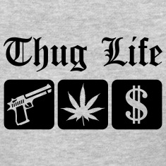 Guns Weed Cash Thug Life Women's T-Shirts
