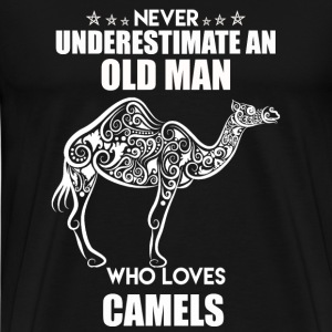 Old Man Who Loves Camels - Men's Premium T-Shirt