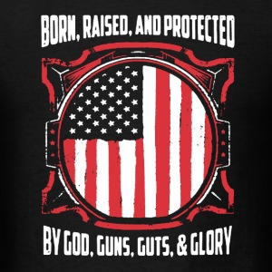 God, gun shirts and Glory - Men's T-Shirt