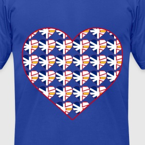 NL FLAG IN HEART IN HEART - Men's T-Shirt by American Apparel