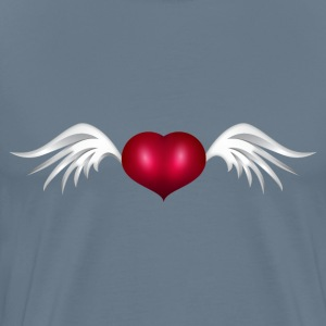 heart with wings - Men's Premium T-Shirt