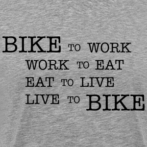 Bike to work T-Shirts - Men's Premium T-Shirt