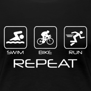 Swim Bike Run Shirt - Women's Premium T-Shirt