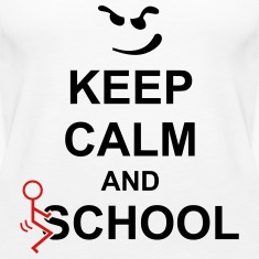 Keep Calm And Fuck School Tanks