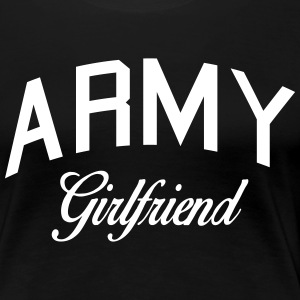 army girlfriend Women's T-Shirts - Women's Premium T-Shirt