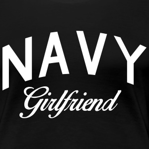 navy girlfriend Women's T-Shirts - Women's Premium T-Shirt