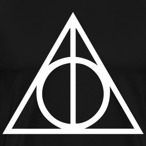 Deathly Hallows Triangle T-Shirts - Men's Premium T-Shirt