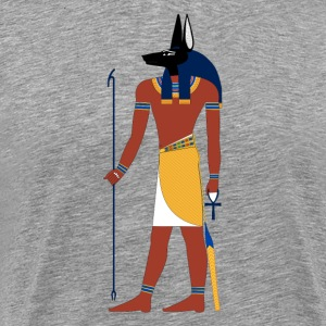 Anubis God of Funeral and Death Ancient Egypt Myth T-Shirts - Men's Premium T-Shirt