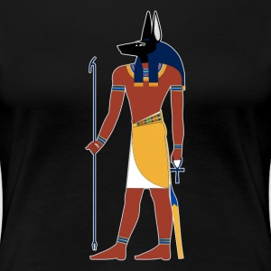 Anubis God of Funeral and Death Ancient Egypt Myth Women's T-Shirts - Women's Premium T-Shirt
