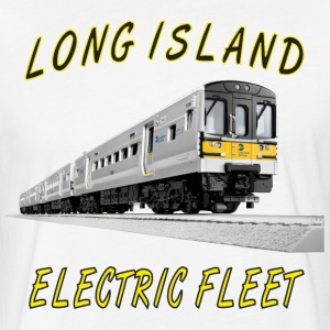 LIRR_M7 Elec Fleet.png T-Shirts - Fitted Cotton/Poly T-Shirt by Next Level