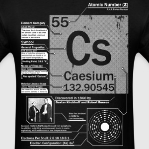 Caesium Element t shirt - Men's T-Shirt
