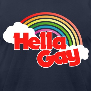 Hella GAY rainbow - Men's T-Shirt by American Apparel