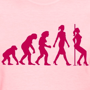 evolution_of_woman_striptease_052016_b_1 Women's T-Shirts - Women's T-Shirt