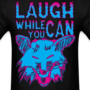 Neon Laughing Fox - Laugh While You Can - Men's T-Shirt