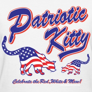 Patriotic Kitty - Women's T-Shirt