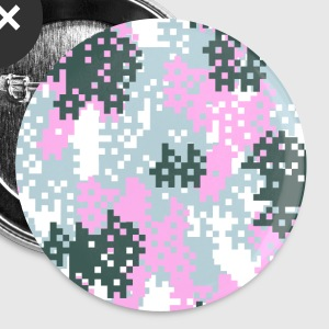 Pink Pixel Camouflage - Large Buttons