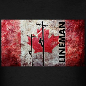 Lineman Canada - Men's T-Shirt