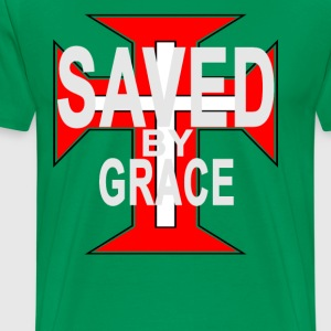 saved_by_grace_ - Men's Premium T-Shirt