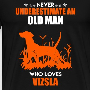 Old Man Who Loves Vizsla - Men's Premium T-Shirt