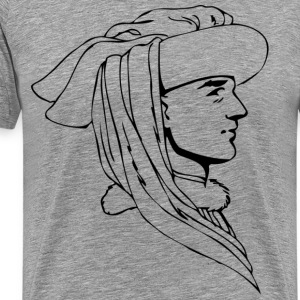 Renaissance tradition of human head - Men's Premium T-Shirt