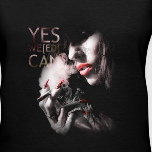 SMOKING GIRL - Women's V-Neck T-Shirt