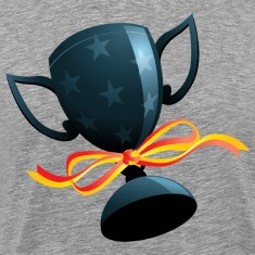 Football trophy with ribbon T-Shirts