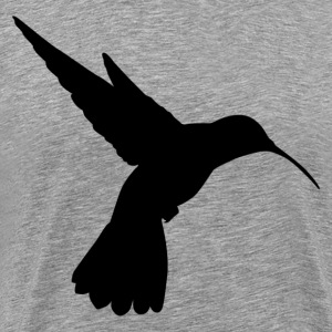 Long beak humming bird silhouette T-Shirts - Men's Premium T-Shirt