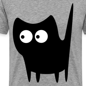 Black wide eyes cat T-Shirts - Men's Premium T-Shirt