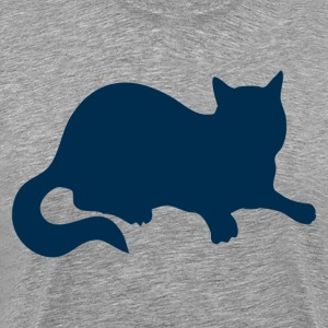 Blue cat sitting T-Shirts - Men's Premium T-Shirt