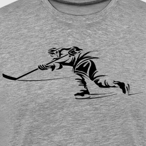 Ice hockey player silhouette T-Shirts - Men's Premium T-Shirt