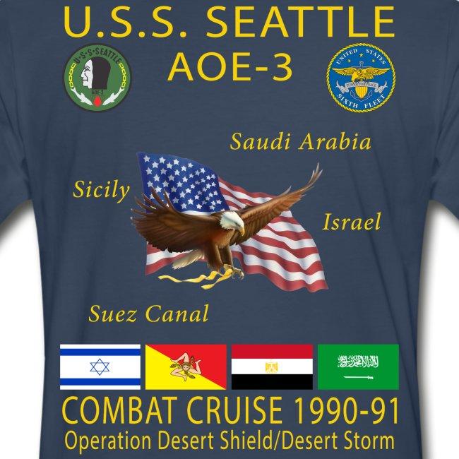 USS SEATTLE 1990-91 CRUISE SHIRT