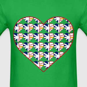 NL FLAG IN HEART IN HEART - Men's T-Shirt