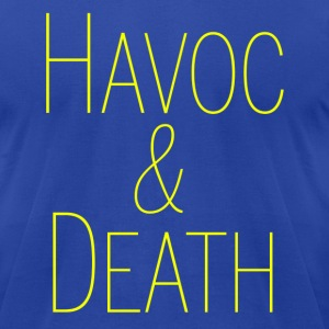 HAVOC & DEATH - Men's T-Shirt by American Apparel