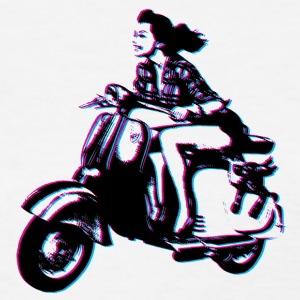 Vespa Scooter Girl Women's T-Shirts - Women's T-Shirt