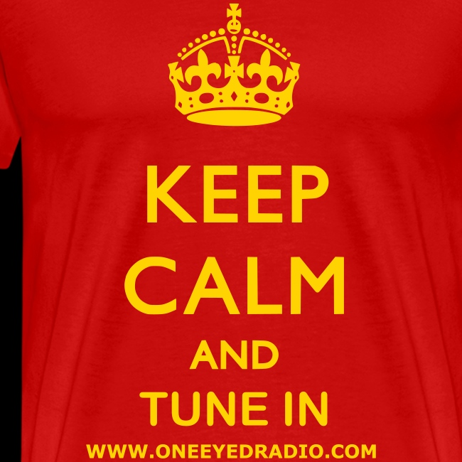 Keep Calm Tune In Gold/Ltr
