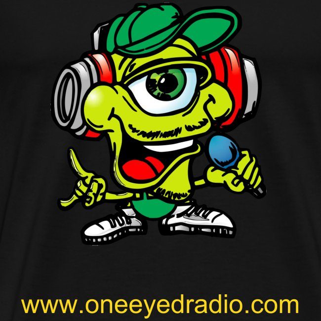 One Eyed Logo Tee/Gold Ltr