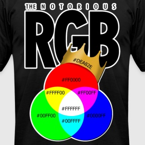 The Notorious RGB T-Shirts - Men's T-Shirt by American Apparel