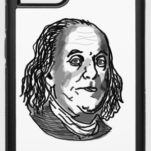 Ben Franklin drawing - iPhone 6/6s Rubber Case