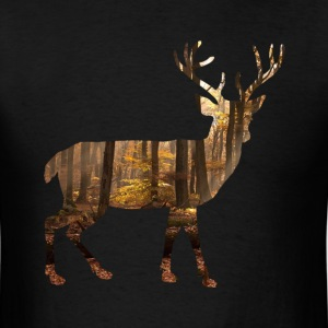 Mens T-Shirt: camo deer - pick your colour! - Men's T-Shirt