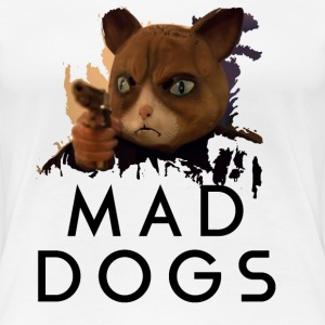 Mad Dogs Cat Shirt Women's T-Shirts - Women's Premium T-Shirt