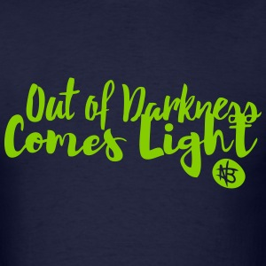 Out of Darkness Comes Light - Northbound Christian - Men's T-Shirt