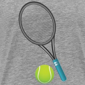 Shuttle ball and racket T-Shirts - Men's Premium T-Shirt
