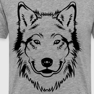 Wolf head art T-Shirts - Men's Premium T-Shirt