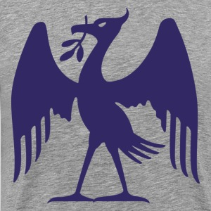 Blue bird holding leaf T-Shirts - Men's Premium T-Shirt