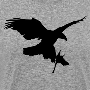 Eagle caught a bird silhouette T-Shirts - Men's Premium T-Shirt