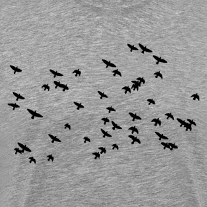 Bird group flying T-Shirts - Men's Premium T-Shirt