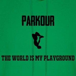 The world is my playground hoodie - Men's Hoodie