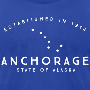 Anchorage T-Shirts - Men's T-Shirt by American Apparel