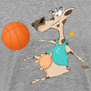 Funny animal cow with basketball T-Shirts - Men's Premium T-Shirt