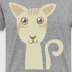 Green cat face T-Shirts - Men's Premium T-Shirt